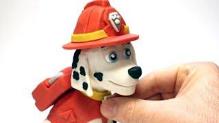 Fireman dog Paw Patrol 💕Superhero Play Doh Stop motion videos for kids