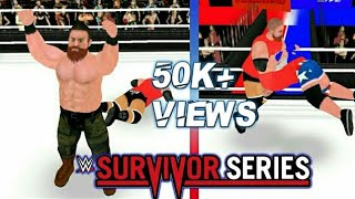 Team raw vs Team smack Survivor series 2017 -Wr3d Recreation -Real Time commentary