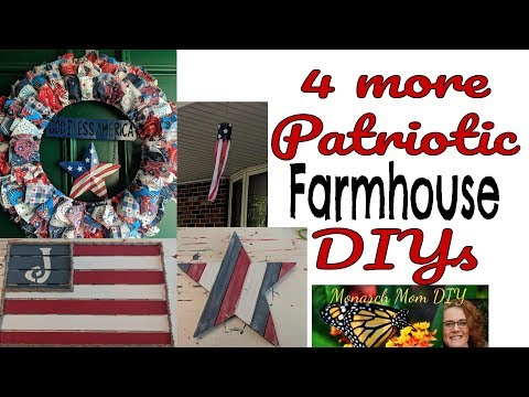 DOLLAR TREE WALMART PATRIOTIC FARMHOUSE DECOR DIY #dollartree #farmhousedecor