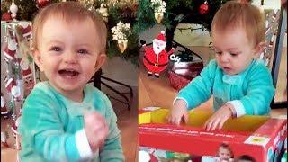 La hija de Aislinn Derbez y Mauricio Ochmann Kailani abre su regalo de Santa Claus
