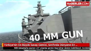 Türkiye'nin En Büyük Savaş Gemisi, Sınıfında Dünyanın En Büyüğü Olacak