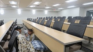 Download 24 hour overnight challenge in a school! (COPS CAUGHT US) Mp3 and Videos