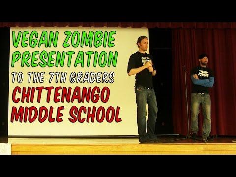 Vegan Zombie Presentation at Chittenango Middle School