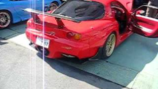 RE Amemiya's Super Greddy 3-Rotor T-88 Turbo RX-7 Start up and idle...