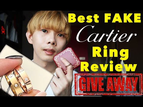 S1E7- Fake Cartier Love Ring Review Rose/White Gold Replica Jewelry Collection Give Away 2019 women