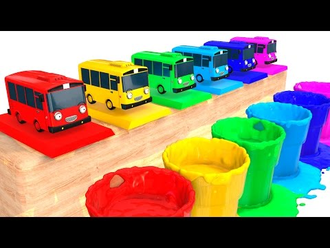 COLOR BUS for Kids - Cars Learning Educational Video - 3D Superheroes for babies