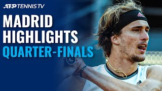 Zverev Battles Nadal; Thiem, Berrettini Eye Semi-Final Spot | Madrid 2021 Quarter-Final Highlights