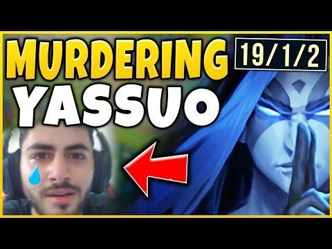 LITERALLY DESTROYING YASSUO (MOE) IN CHALLENGER! RANK 1 KAYN VS YASSUO - League of Legends
