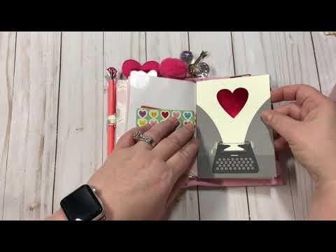 Valentines  Day Travelers Notebooks