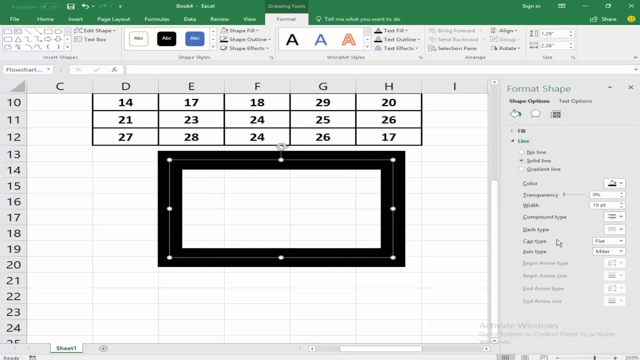 How to Increase or Decrease Thickness Cell or Line Border in Microsoft  Excel 2017