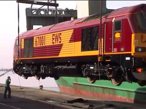 67001 unloaded at Newport Docks; plus silver 67026 on Royal Train.