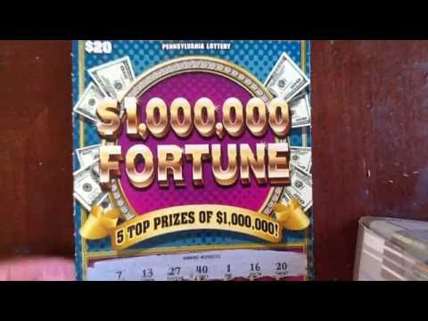 NEW: $20 $1,000,000 Fortune Part #1 - PA Lottery