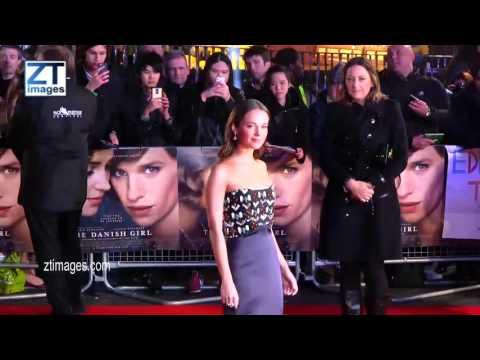 Alicia Vikander at film premiere of The Danish Girl - London UK. ZTimagesTV.