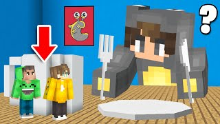 HIDING In SLOGO'S HOUSE As TINY PLAYERS! (Minecraft)