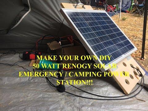Emergency Camping Solar Panel DIY Charger Generator System Tutorial SLA