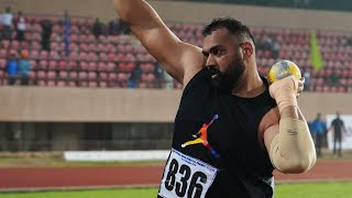 Shot Put Indian Record 20.92M - Tejinderpal Singh Toor - National Open Athletics 2019