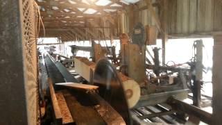 Sawmill Lumber Cutting.