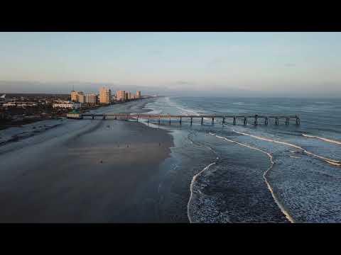 Jacksonville Beach Florida Drone Aerial Footage 2018