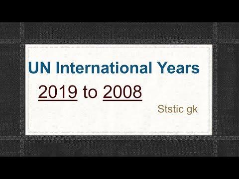 UN International years