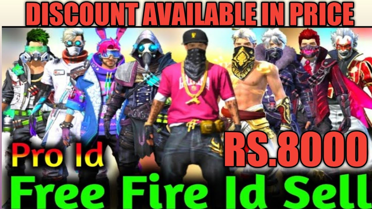 FREE FIRE 🤑BEST OLD ACCOUNT SELL || PRO PLAYER ID SELL || RARE DRESS & GUNS ID LEVEL 70+//Rs. 8000