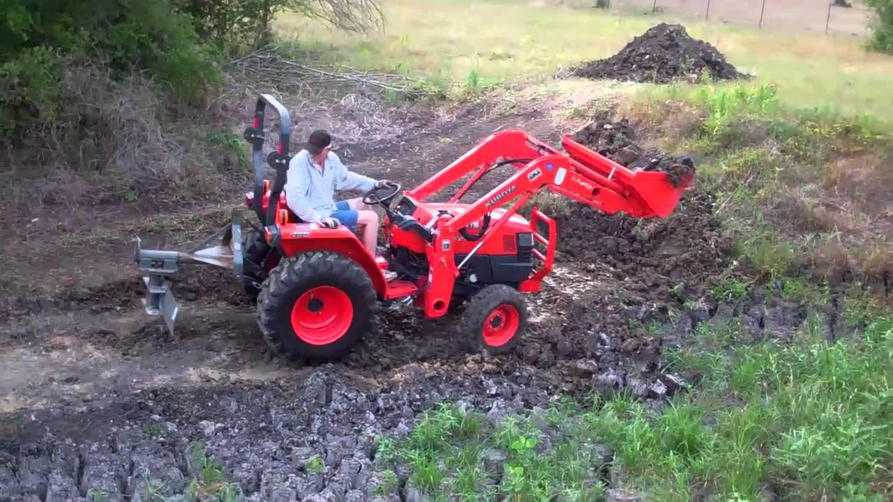 L3400 Kubota Tractor W Loader : Digging out pond with kubota l tractor doovi
