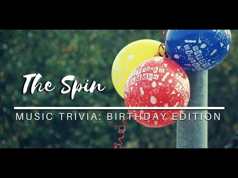 Have A Happy Birthday, Music Trivia Style!