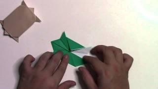 動物シリーズ・簡単な亀(かめ)の折り方です。 【まとめサイト】折り紙(O...