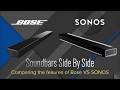 Side by Side: Sonos Playbar and Bose Soundbar ST300SB