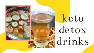 Keto Recipes || Keto Detox Water || Jeera Water || Lemon cucumber Aubergine water