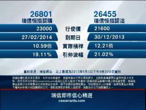 2013/09/04 騰訊、金山軟件齊創新高:騰訊購26517/金軟購26647