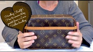 Handbag Facelift | How I removed the stickiness in the pockets of my Louis Vuitton Compiegne 23