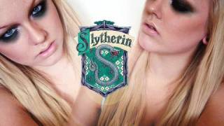 slytherin - harry potter houses  inspired makeup tutorial with vintageortacky