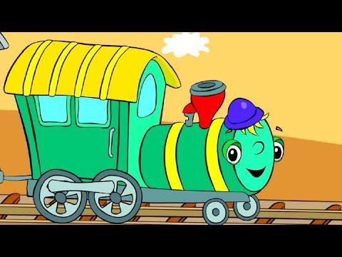 ПЕСНЯ - Поезд - Рельсы-рельсы, шпалы-шпалы - Развивающий мультик про животных