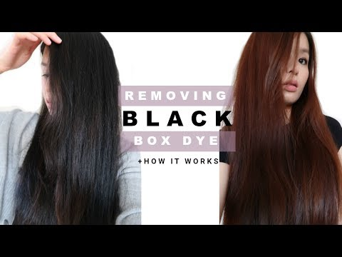 REMOVING PERMANENT BOX DYE IN HAIR & WHY IT WORKED  Easy At Home Remedy For Colored Hair, NO BLEACH