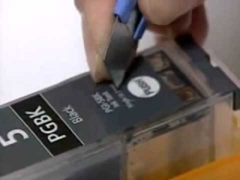 How to refill a canon ink cartridge, nothing to do with ...