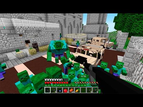 Зомби Мутант на Базе! День 7. Зомби Апокалипсис в Майнкрафт