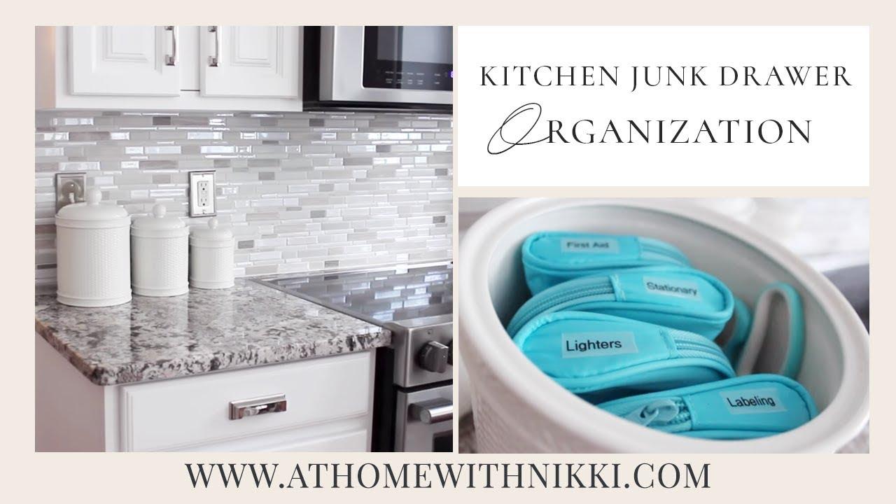 KITCHEN ORGANIZATION | Kitchen Junk Drawer - YouTube