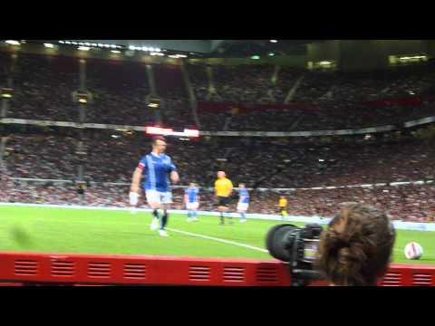 soccer aid 2012 Mark Owen failing to score
