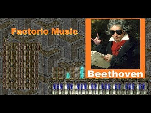 BEETHOVEN Moonlight Sonata- FACTORIO MUSIC programmable speakers.