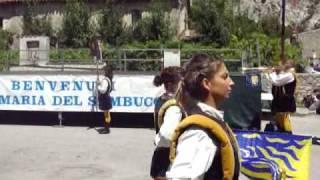 Sbandieratrici di Viterbo a Santa Maria del Sambuco - 1/3