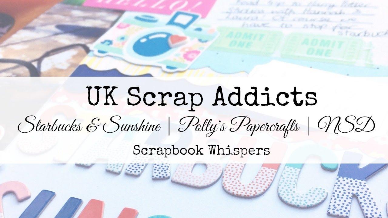 How to scrapbook uk - Starbucks Sunshine Insd Scrapbook Whispers Uk Scrap Addicts