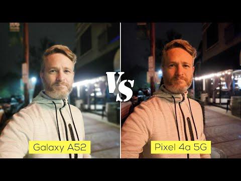 Samsung Galaxy A52 versus Pixel 4a 5G camera comparison