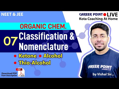 Classification & Nomenclature Video Lecture- 7 | Chemistry | NEET & JEE | VT Sir | Career Point Kota
