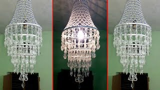 How To Make Wall Hanging Decoration   DIY Crystal Chandelier