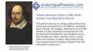 Johann Hermann Schein (1586-1630) - Intrada from Banchetto Musicali