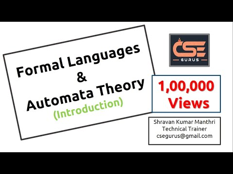 Chapter 1- Introduction To Automata Theory