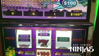 VGT SLOTS - $100 MAX BET ATTEMPT #13 - LABOR DAY WEEKEND MR. MONEY BAGS AT RIVERWIND CASINO