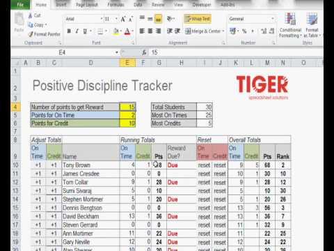 training tracking sheet