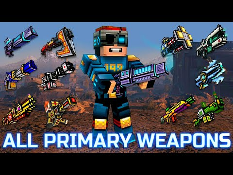 Pixel Gun 3D - Using All Primary Weapons Challenge