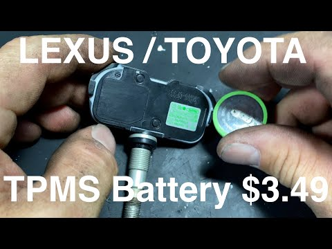 Lexus / Toyota TPMS Sensor Battery Replacement
